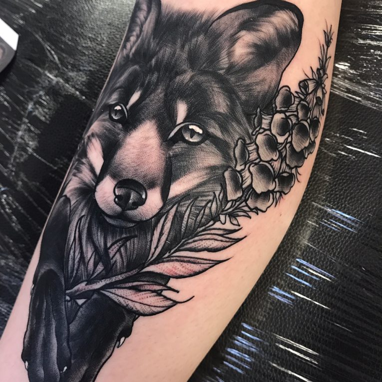 Calf Tattoo 130