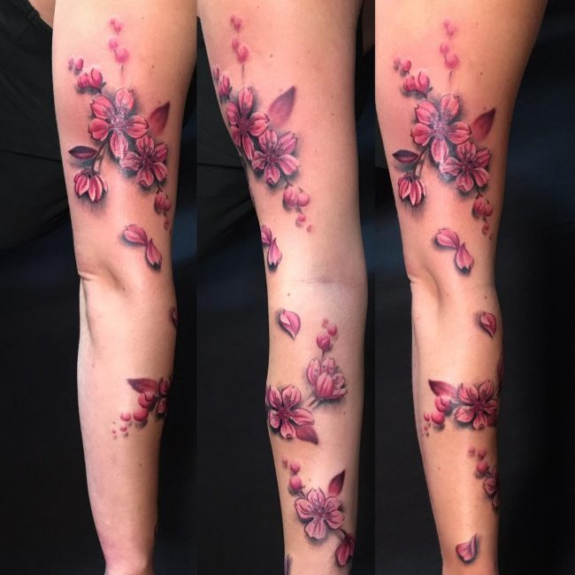 75 Best Japanese Cherry Blossom Tattoo Designs Meanings
