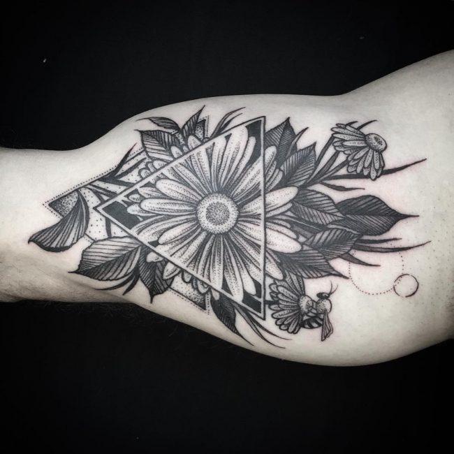 Daisy Flower Tattoo 67