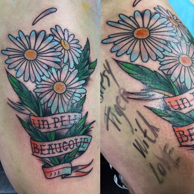 Daisy Flower Tattoo 69