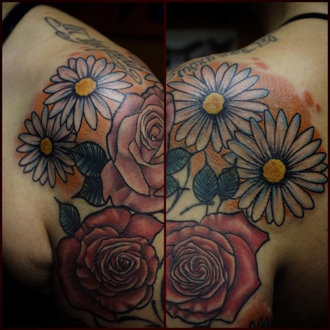 Daisy Flower Tattoo 70