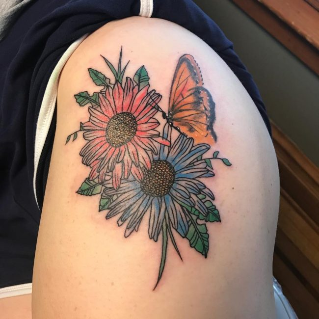 Daisy Flower Tattoo 74
