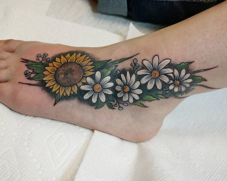 Daisy Flower Tattoo 76
