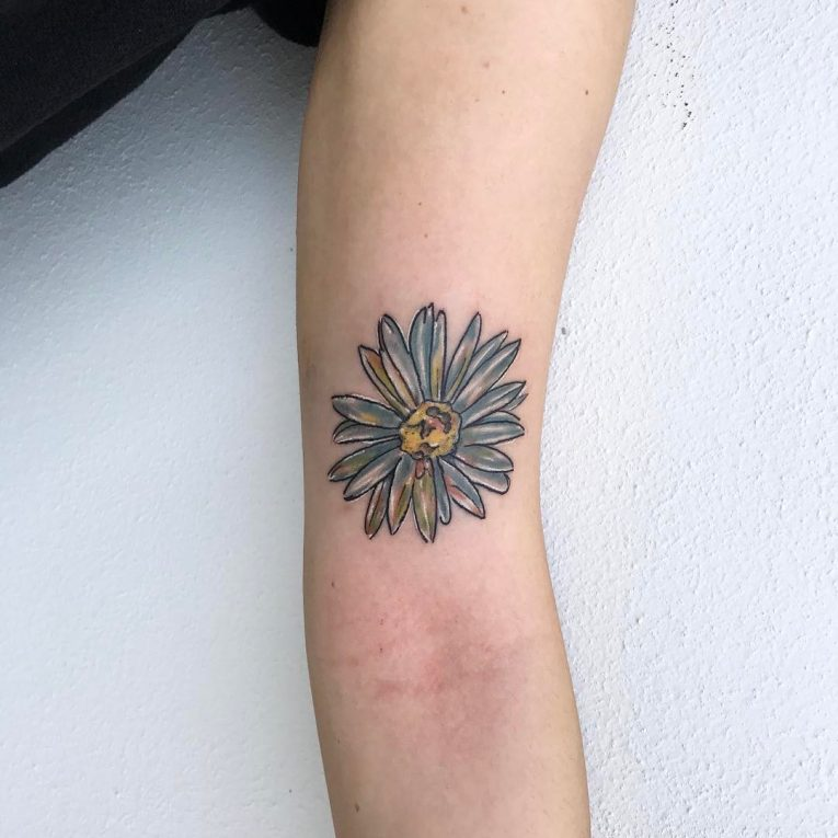 Daisy Flower Tattoo 77