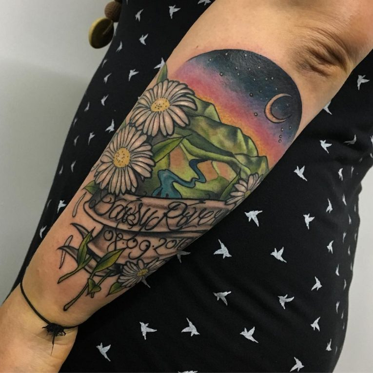 Daisy Flower Tattoo 78