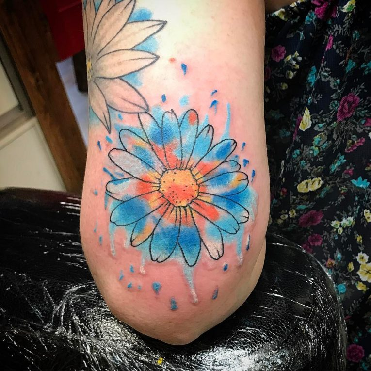 Daisy Flower Tattoo 79