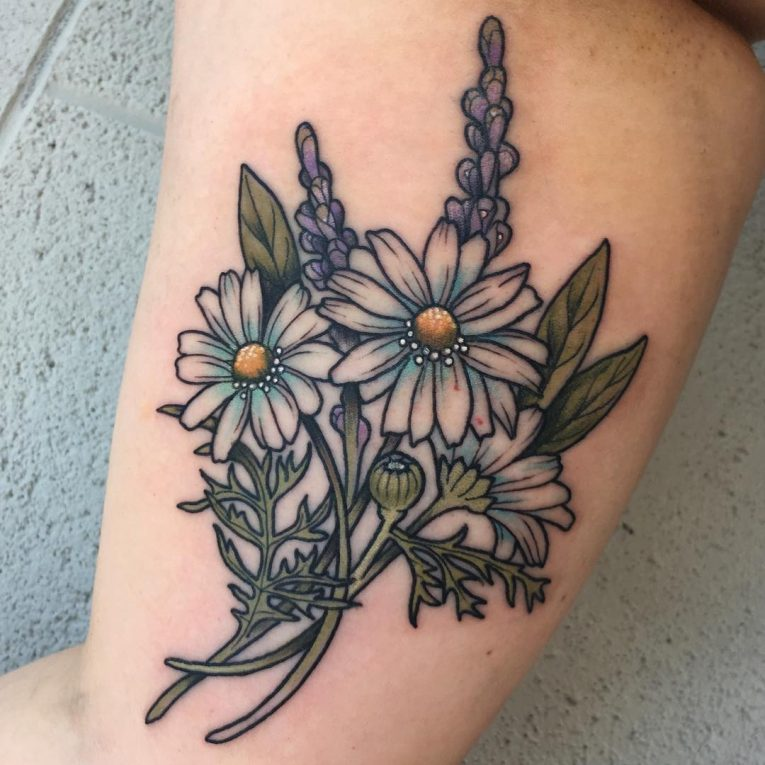 Daisy Flower Tattoo 82