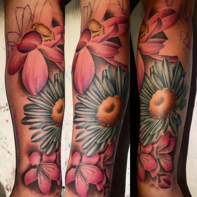 Daisy Flower Tattoo 83