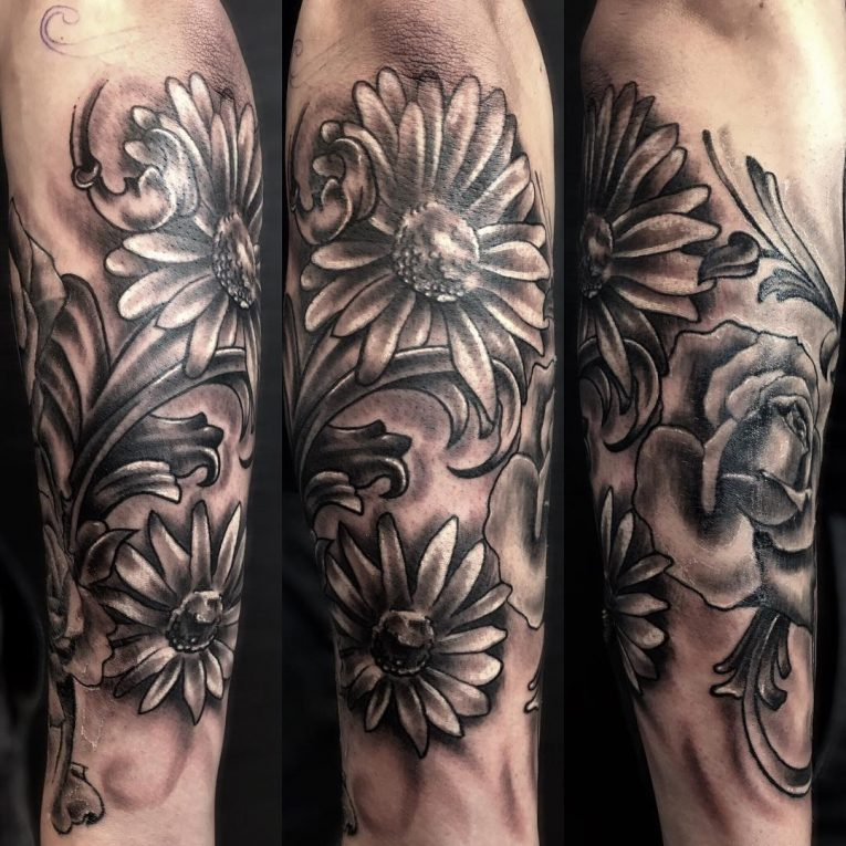 Daisy Flower Tattoo 84