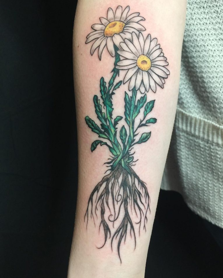 Tattoo Ideas Color 85: 85+ Best Daisy Flower Tattoo