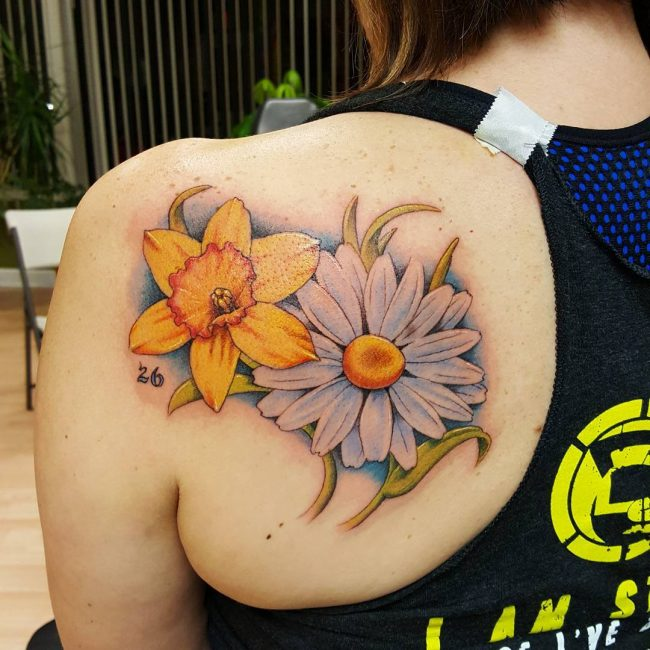 Daisy Flower Tattoo