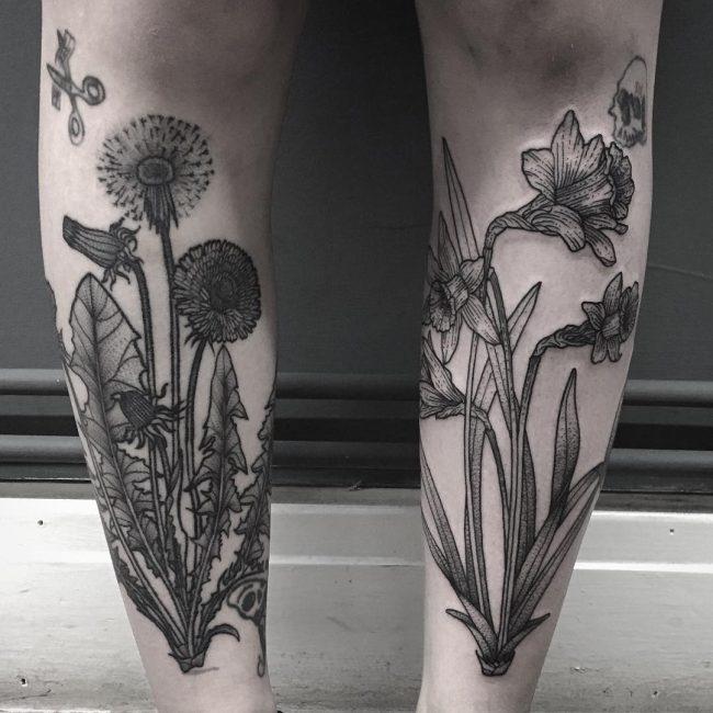 Dandelion Tattoo 50