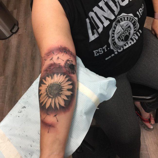 Dandelion Tattoo 54