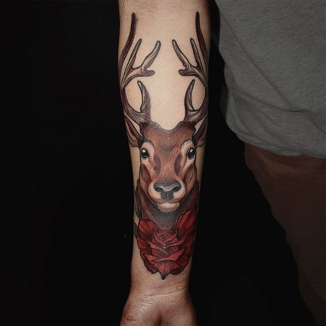 Deer Tattoo 102