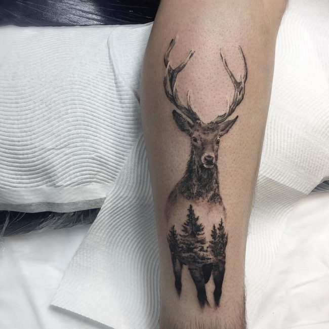 Deer Tattoo 105