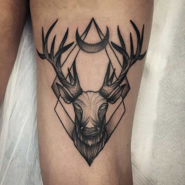 Deer Tattoo 109
