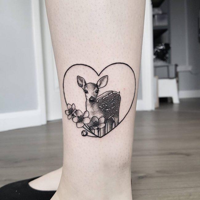 Deer Tattoo 110