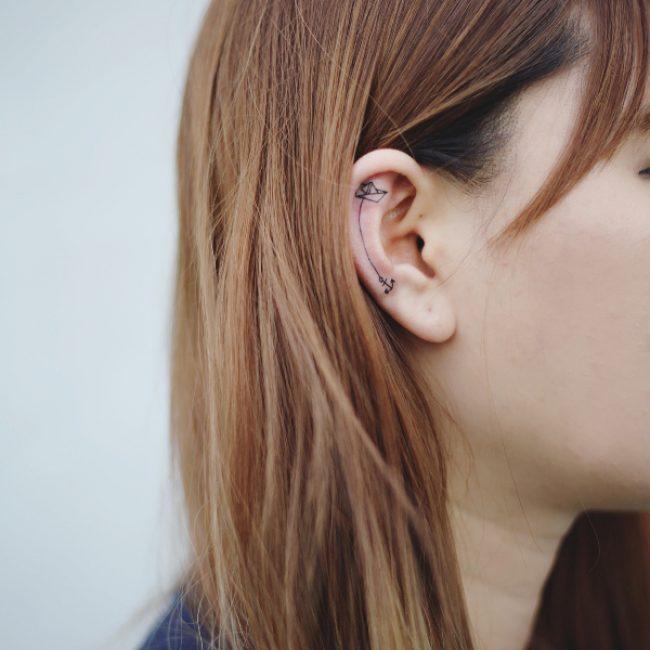 Ear Tattoo 42