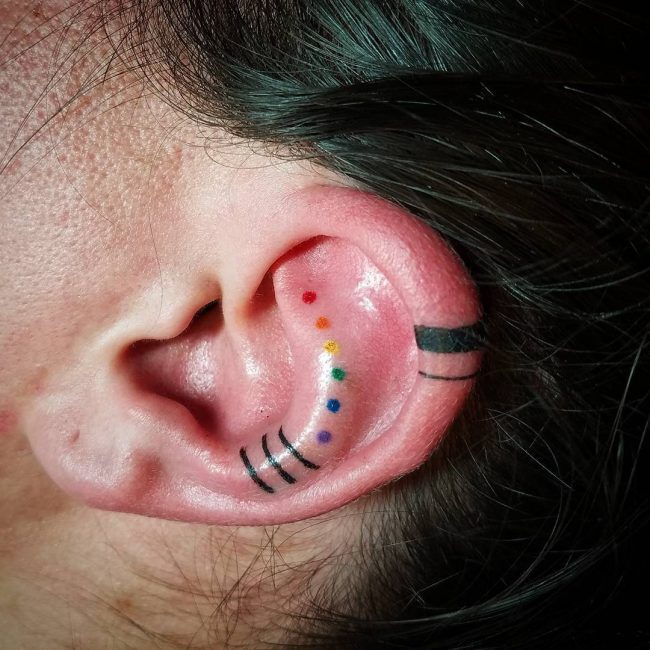 Ear Tattoo 44