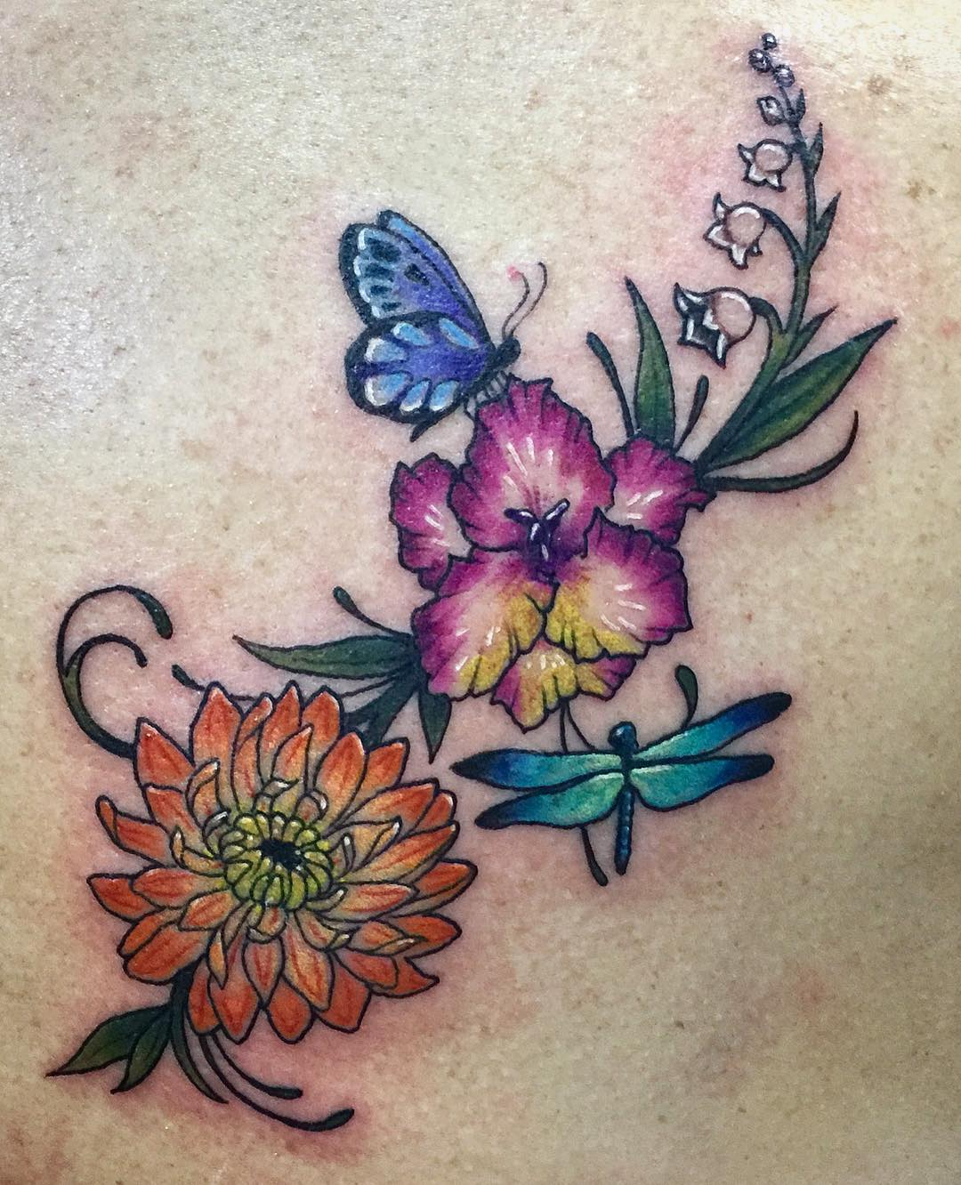 90 Best Floral Tattoo Designs & Meanings Symbols of Love 2017
