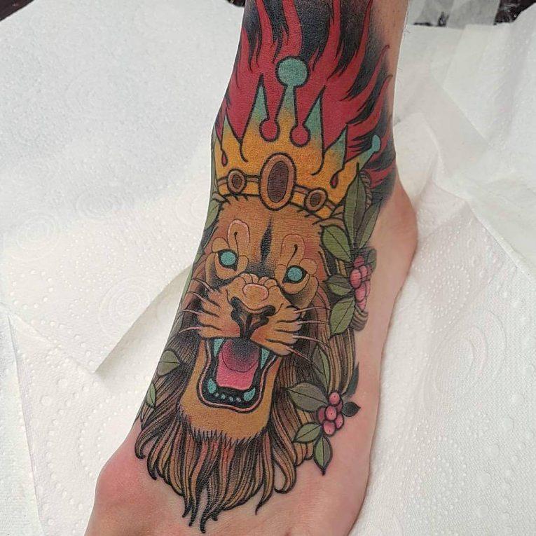 Foot Tattoo 100