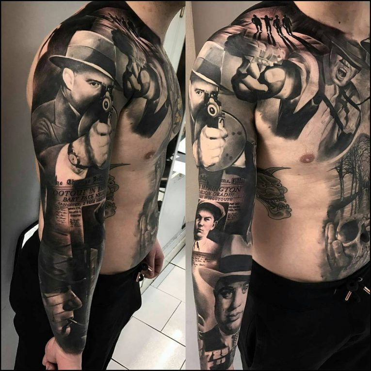 Gangster Tattoo 45