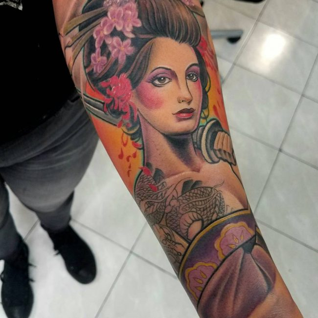 Geisha Tattoo 55