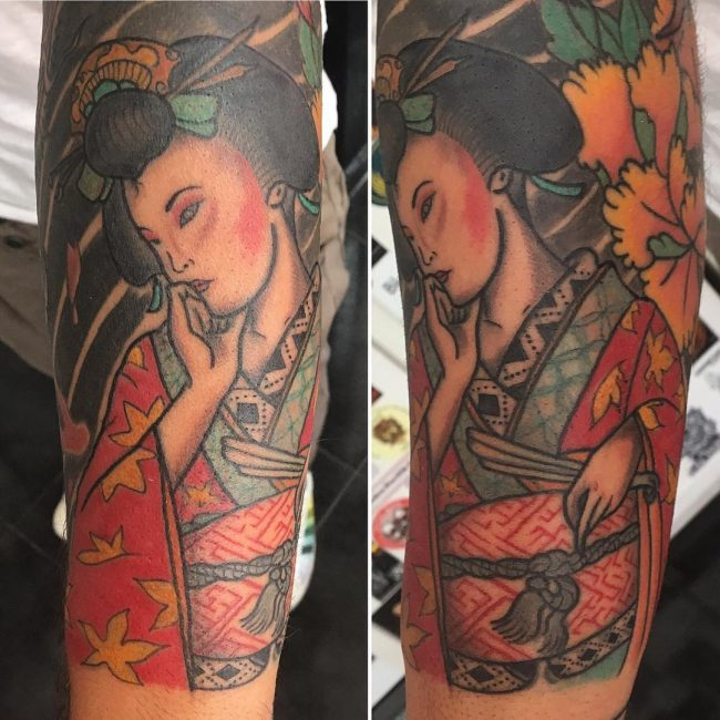 Geisha Tattoo 60