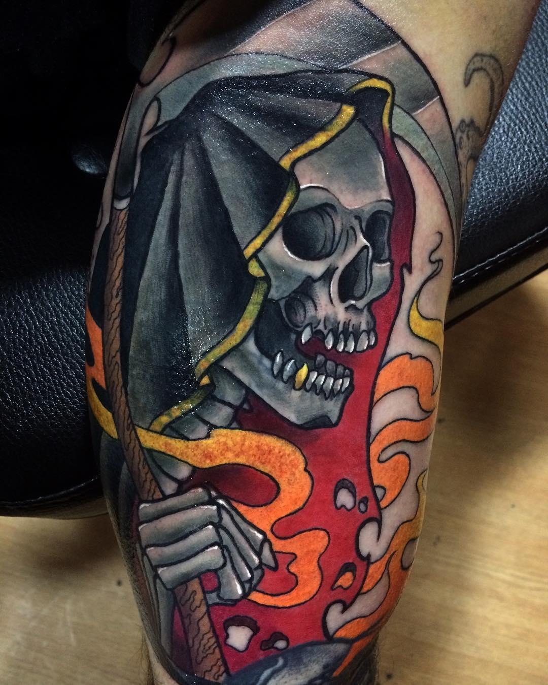 95+ Best Grim Reaper Tattoo Designs & Meanings - (2019)