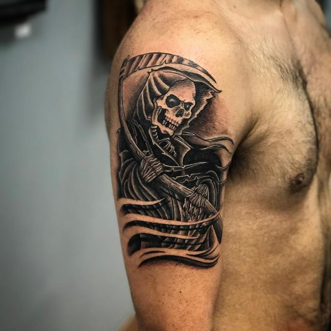 95 Best Grim Reaper Tattoo Designs Meanings 2019