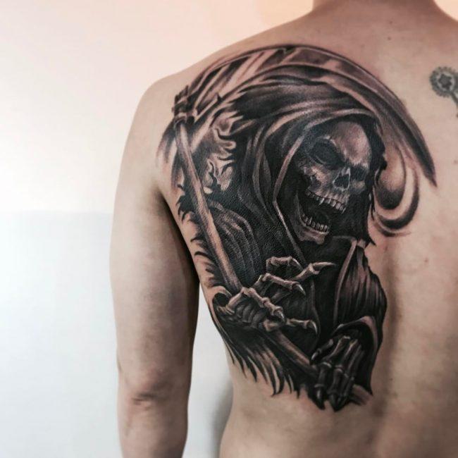 grim reaper tattoo 30