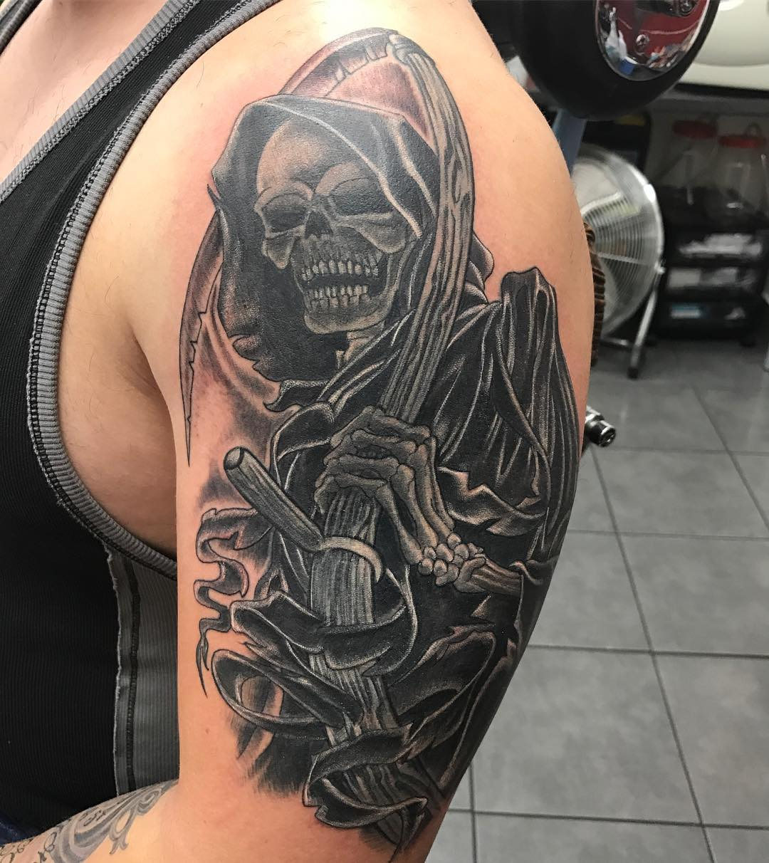 95 best grim reaper tattoo designs meanings 2018. Black Bedroom Furniture Sets. Home Design Ideas