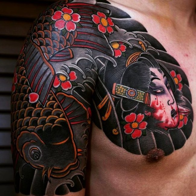 959aa2768 90+ Cool Half Sleeve Tattoo Designs & Meanings – Top Ideas of 2019