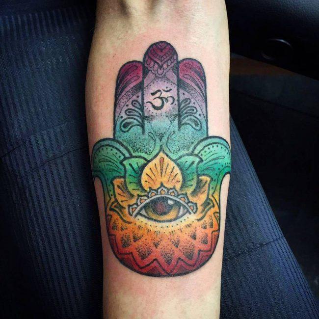Hamsa symbol tattoo