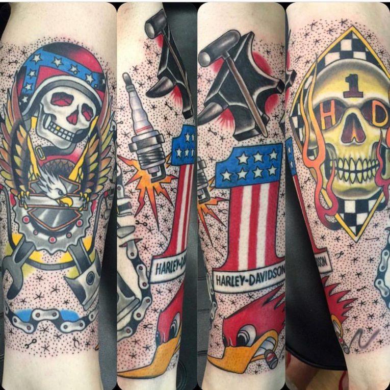 Harley Davidson Tattoo 93