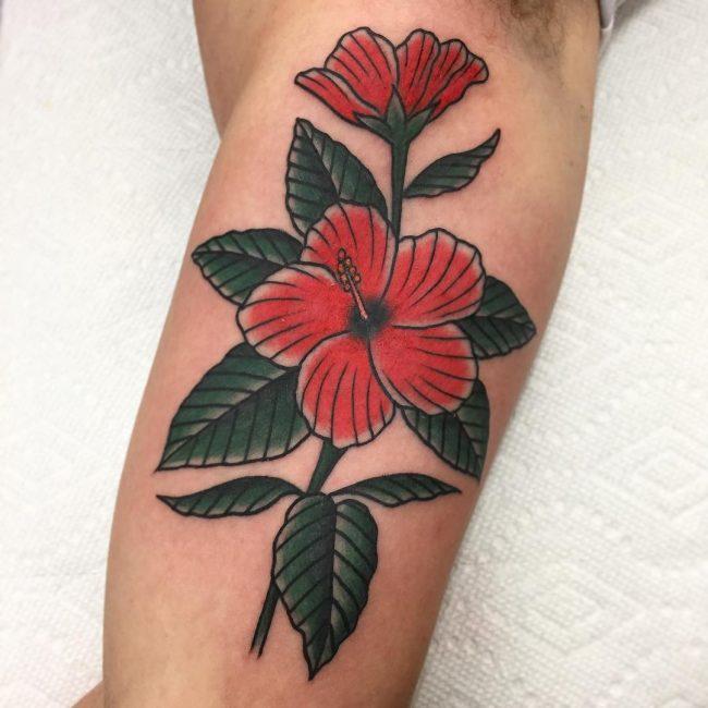 Hibiscus Flower Tattoo 56