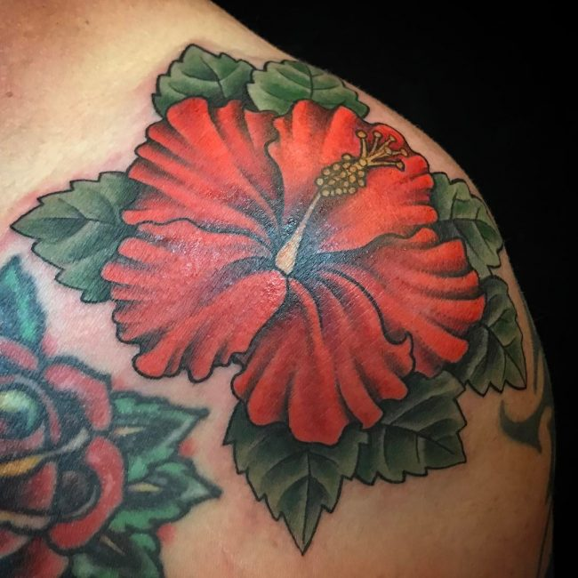Hibiscus Flower Tattoo 58