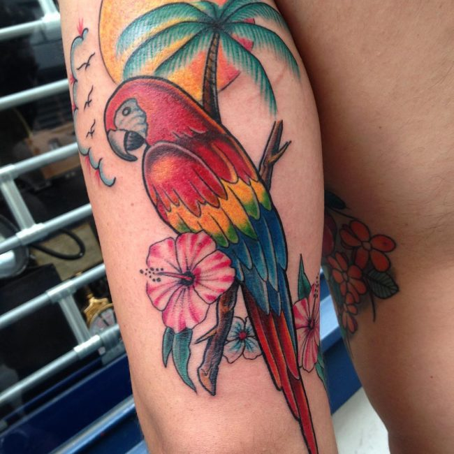 Hibiscus Flower Tattoo 59