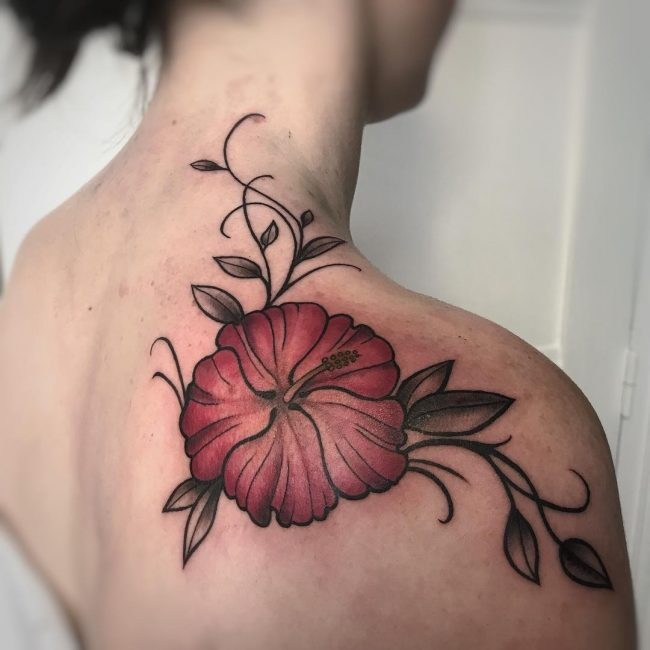 Hibiscus Flower Tattoo 64