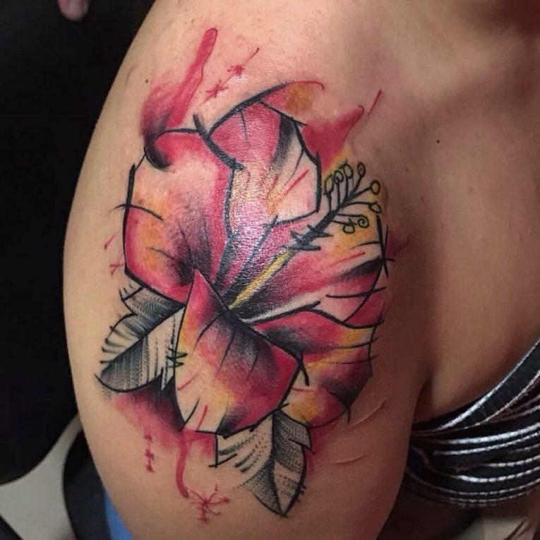 Hibiscus Flower Tattoo 66