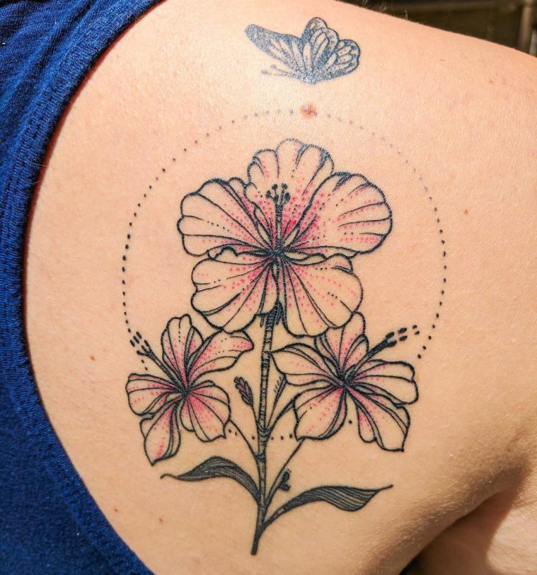 Hibiscus Flower Tattoo 68