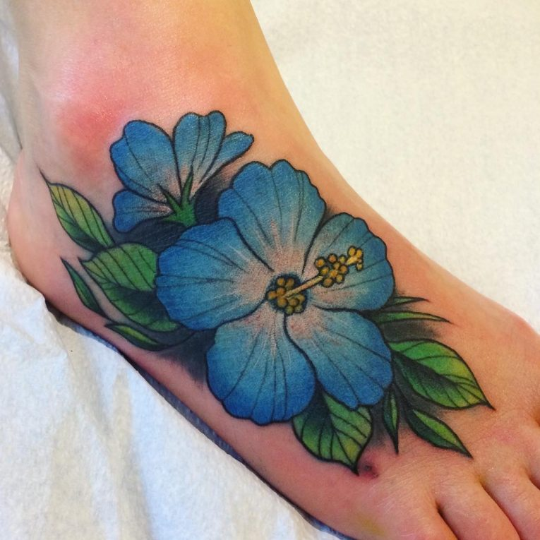 Hibiscus Flower Tattoo 70