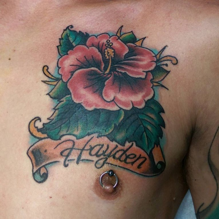 Hibiscus Flower Tattoo 71