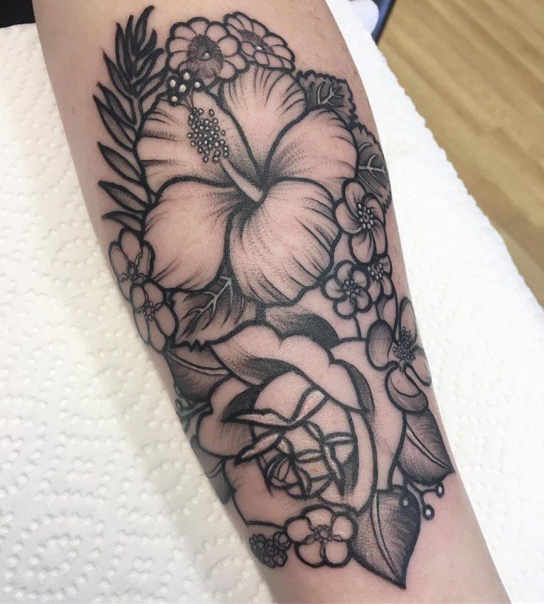 Hibiscus Flower Tattoo 74