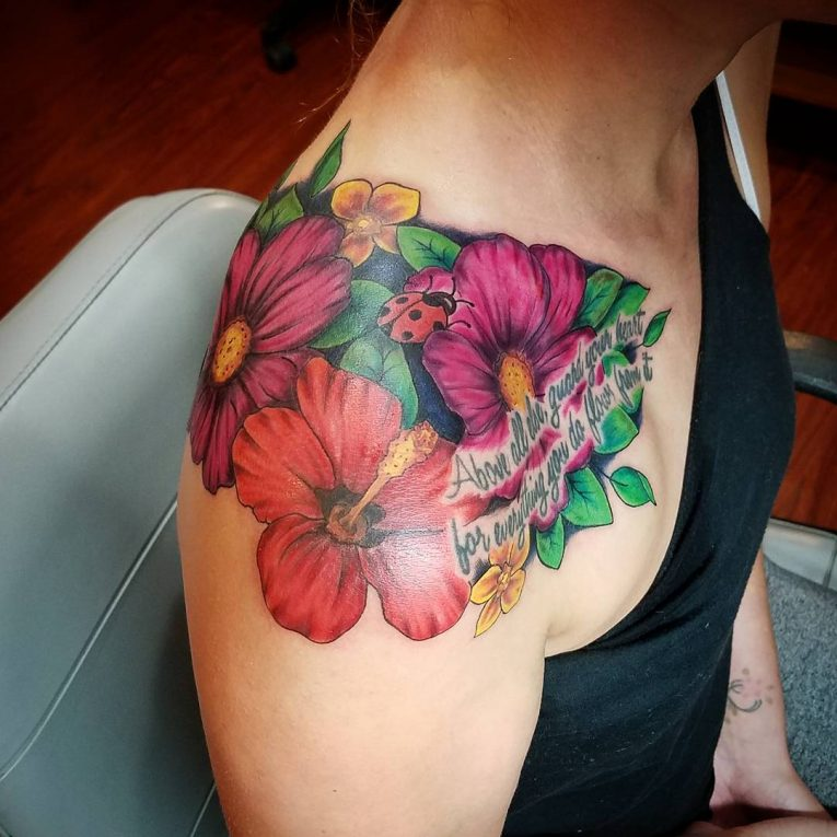 Hibiscus Flower Tattoo 77