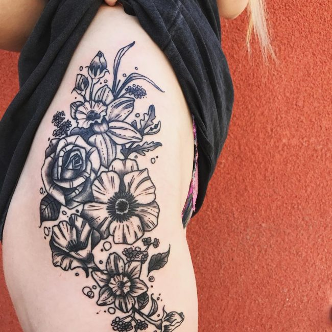 Hip Tattoo 90