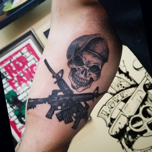 Inner Bicep Tattoo 100