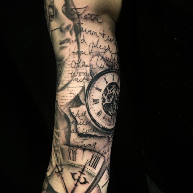 Inner Bicep Tattoo 105