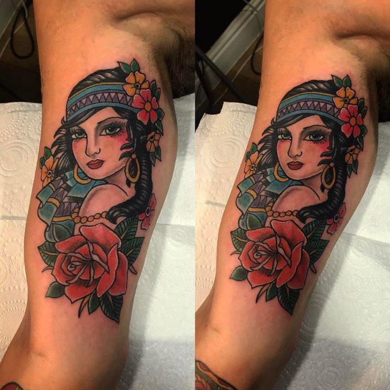 Inner Bicep Tattoo 110