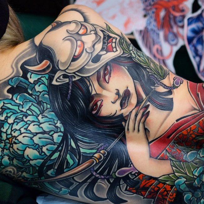 fu dog face tattoo